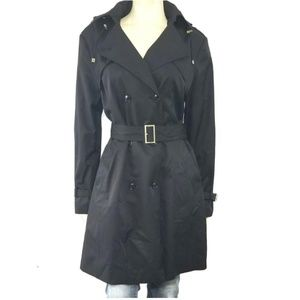 Cole Haan Belted Trench Raincoat Water Resistant